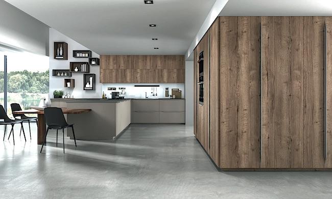 Nuovi colori in cucina la cucina in legno naturale e la - Cucine in cemento ...
