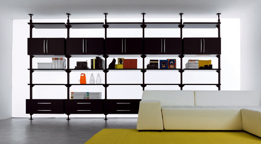 Librerie a parete moderne elegant miyoko libreria da for Librerie componibili moderne